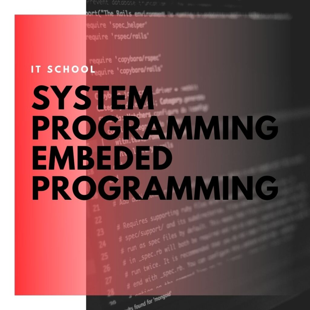 Institute of Technology - In Canada - ITD Canada - System Programming Embeded Programming